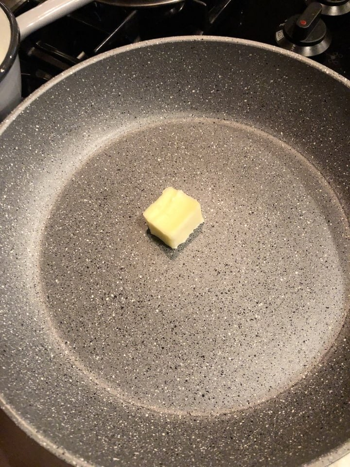butter in a skillet to melt