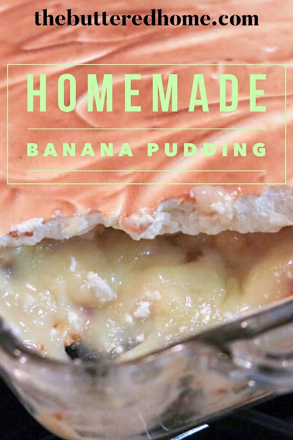 homemade banana pudding pin