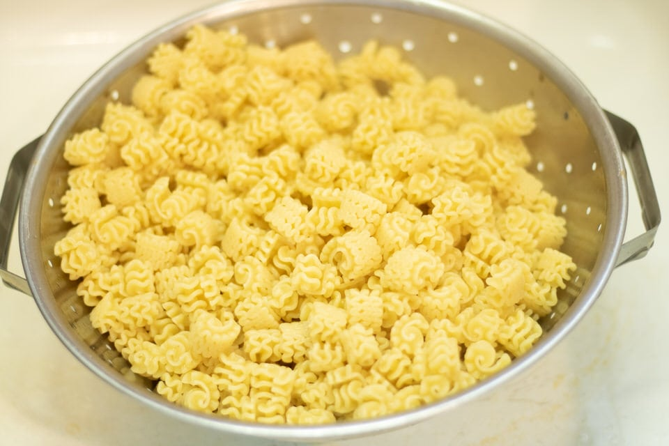 cooked and drained pasta