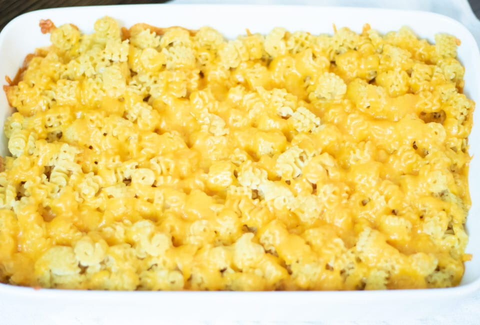 Macaroni and cheese right out of the oven