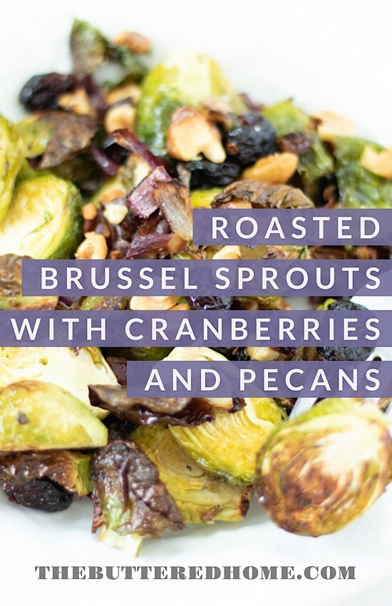 pin for roasted brussel sprouts