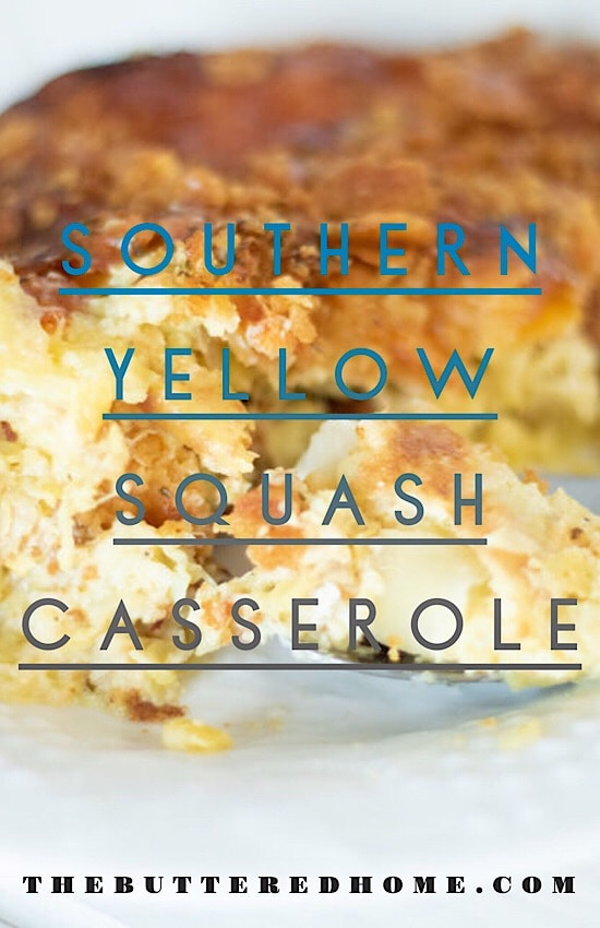 squash casserole pin for pinterest