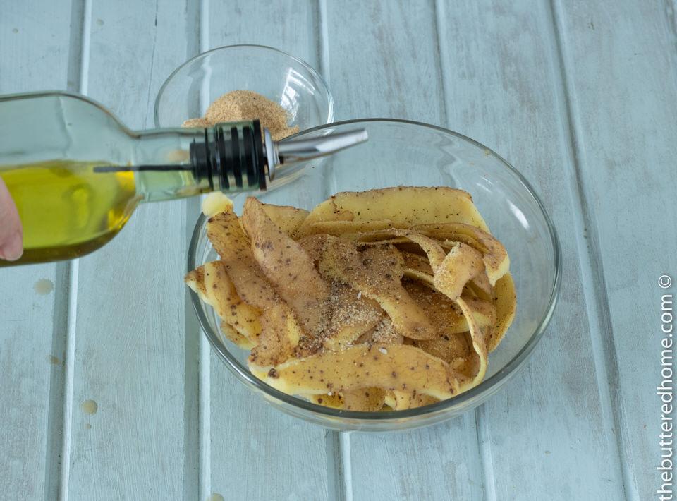 Easy Potato Peel Chips