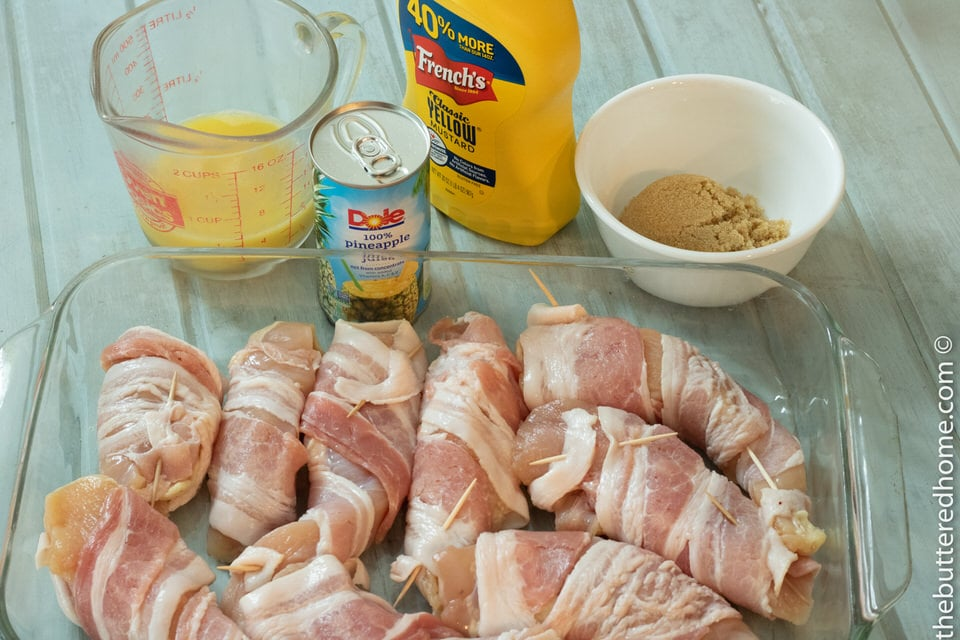Grilled Hawaiian Bacon and Chicken