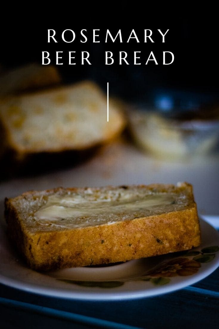 Rosemary Beer Bread is a quick and easy way to have homemade bread. Made with simple ingredients, this bread will make you a bread making master. #bread #beerbread #homemadebread