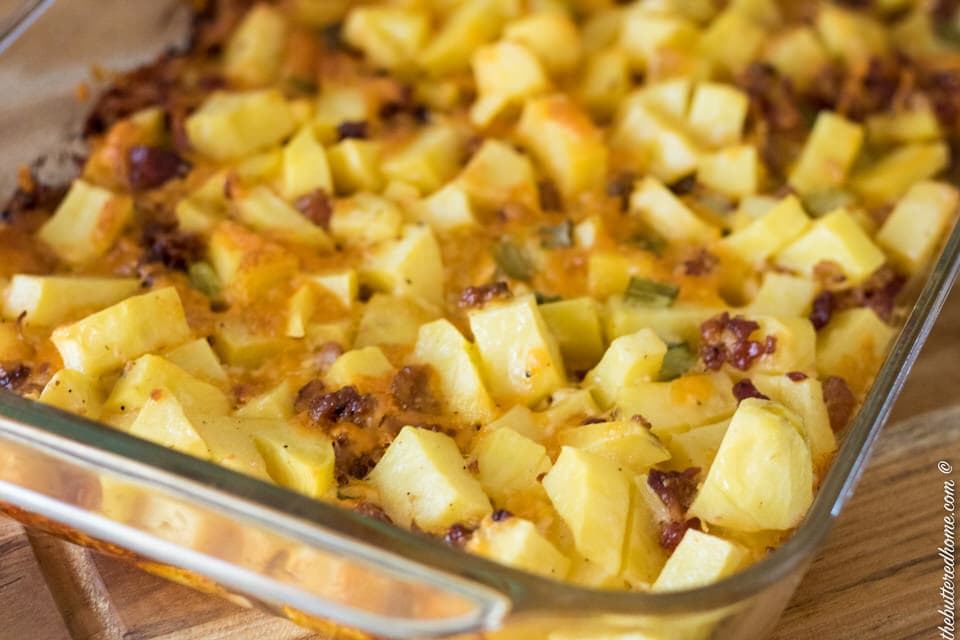 Cheesy Bacon Potato Casserole