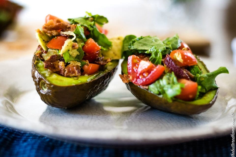 Baked BLT Avocados