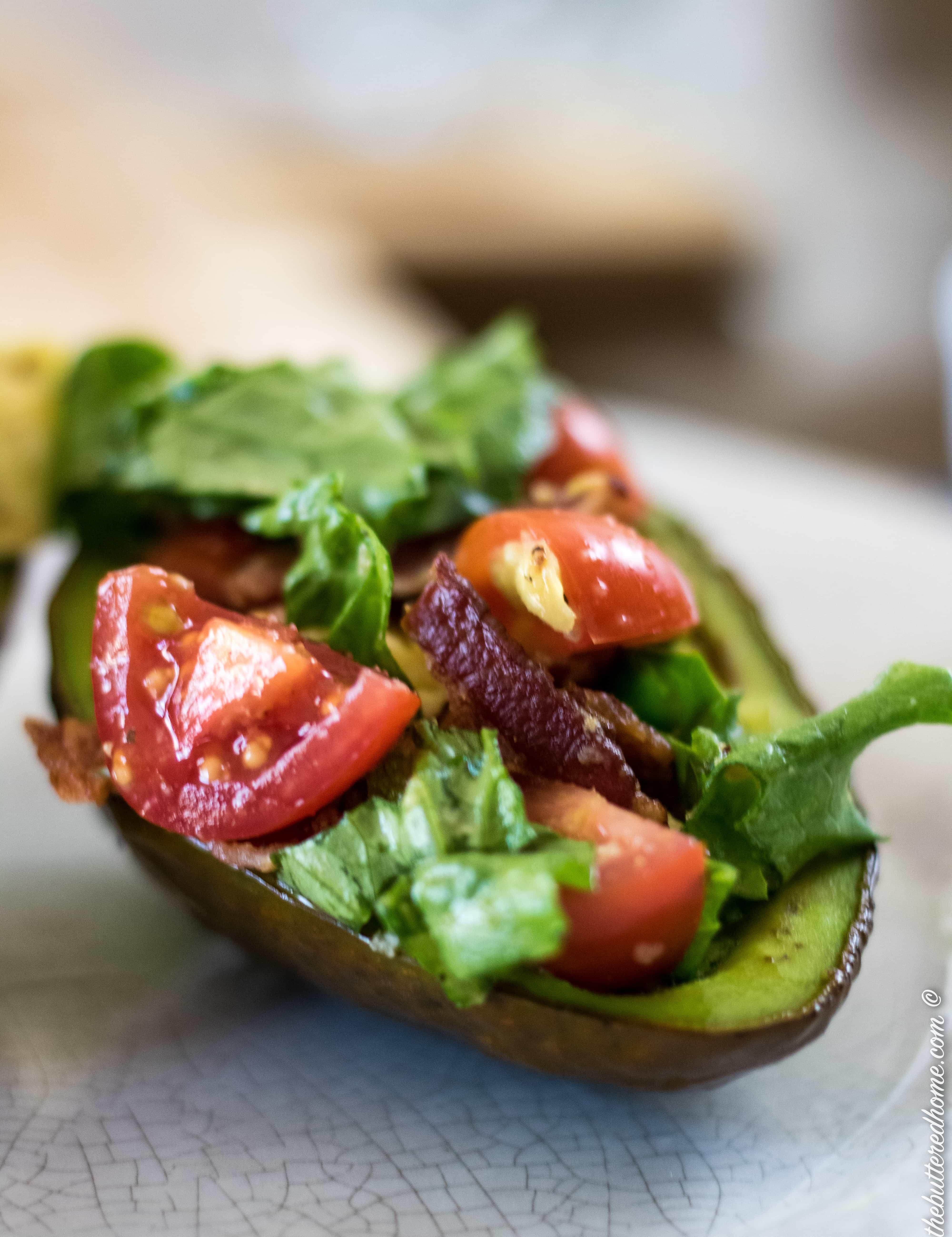 Baked BLT Avocados