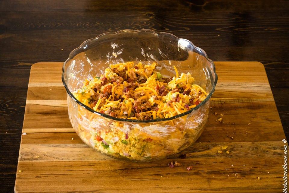 bacon cornbread salad