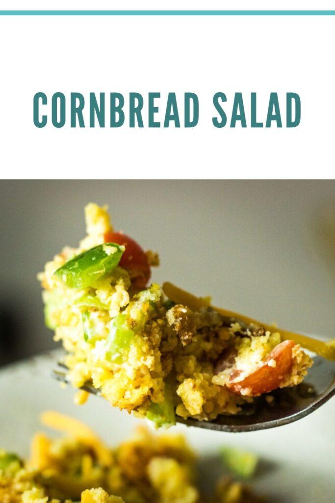 Cornbread salad pin for pinterest