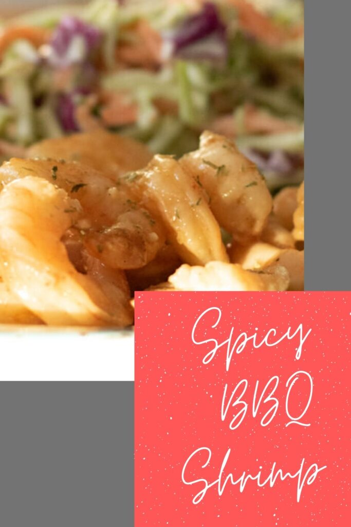 Spicy BBQ shrimp picture for pinterest