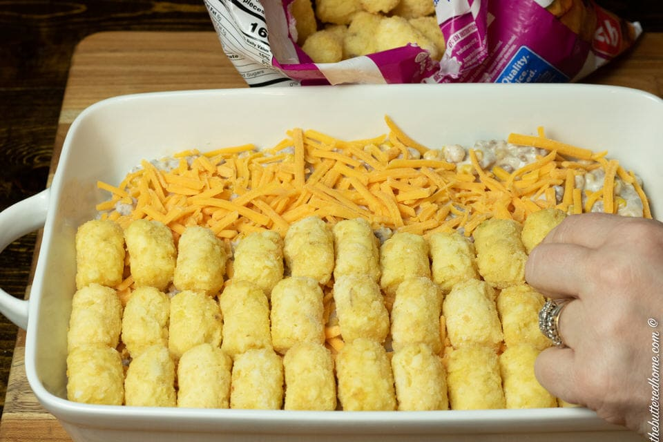 topping with frozen tater tots