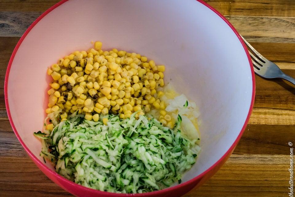 corn and zucchini for zucchini cornbread