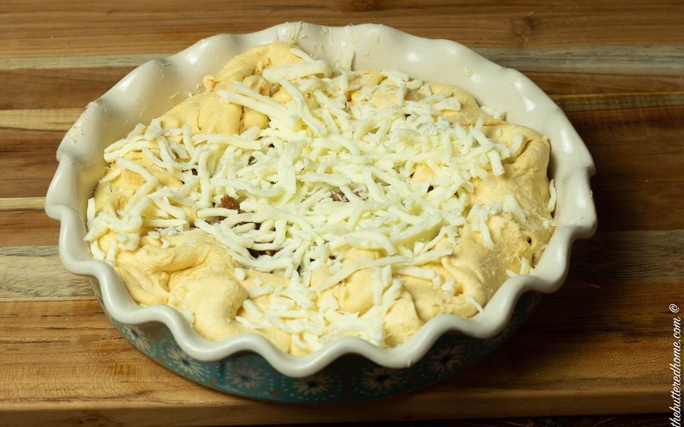 Italian crescent casserole ready for the oven
