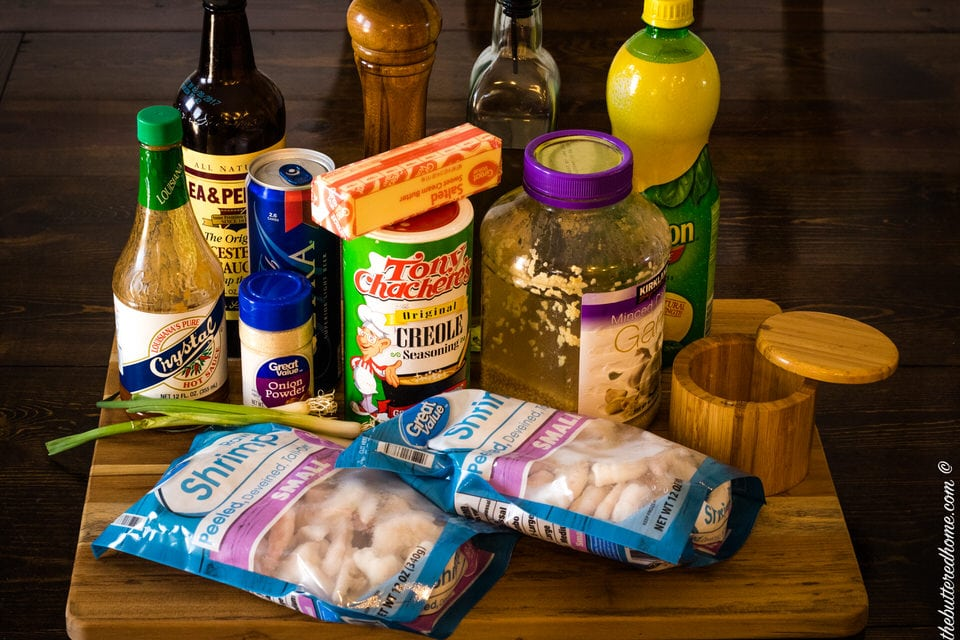 spicy bbq shrimp ingredients