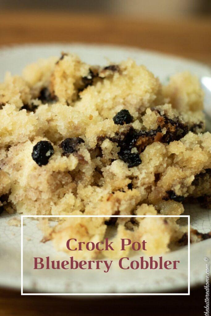 Crockpot blueberry cobbler pin