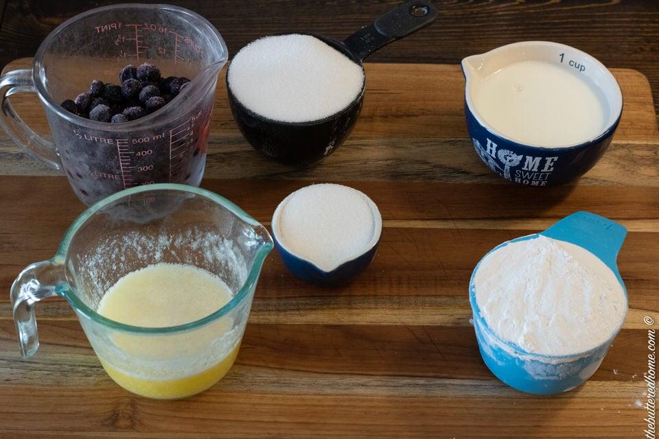 crock pot blueberry cobbler ingredients