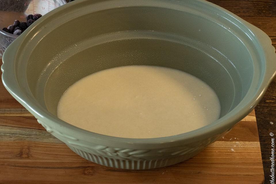 cobbler mixture in crock pot