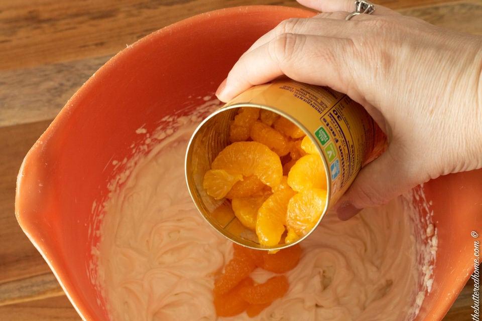 adding mandarin oranges