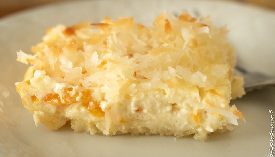 Orange cheesecake bars