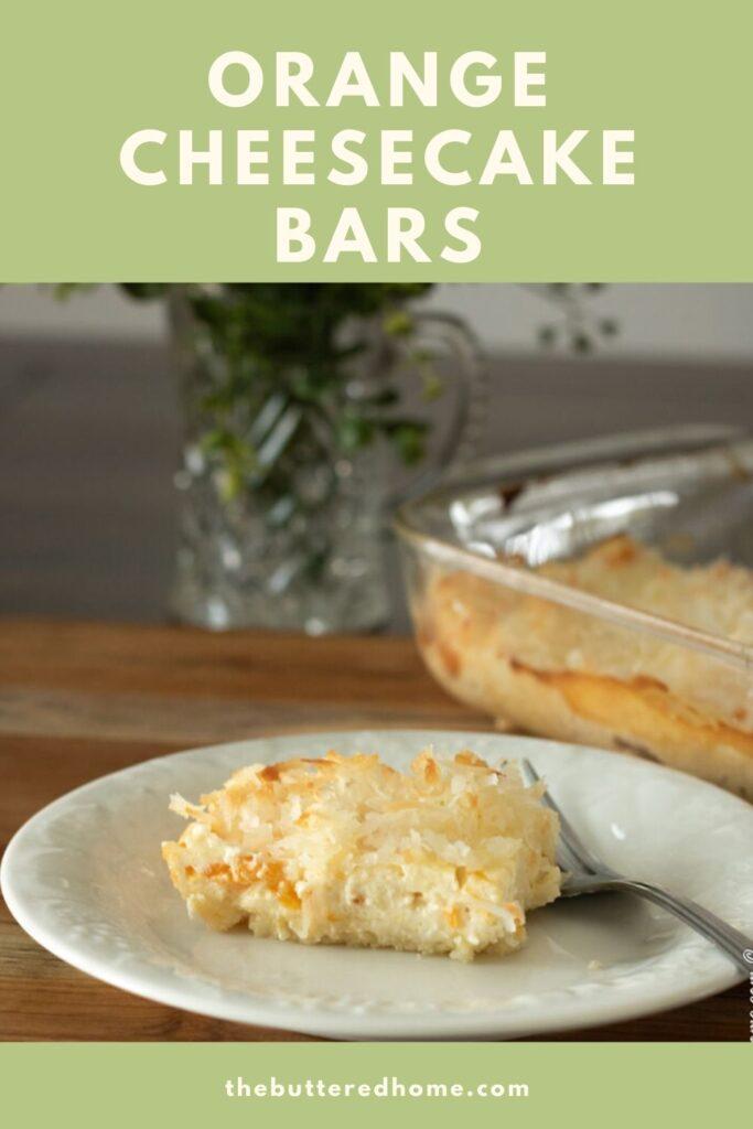 orange cheesecake bar pin