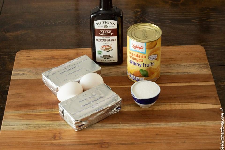 orange cheesecake bar filling ingredients
