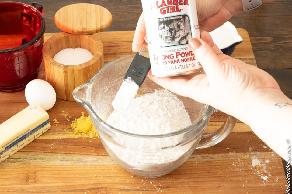 adding baking powder