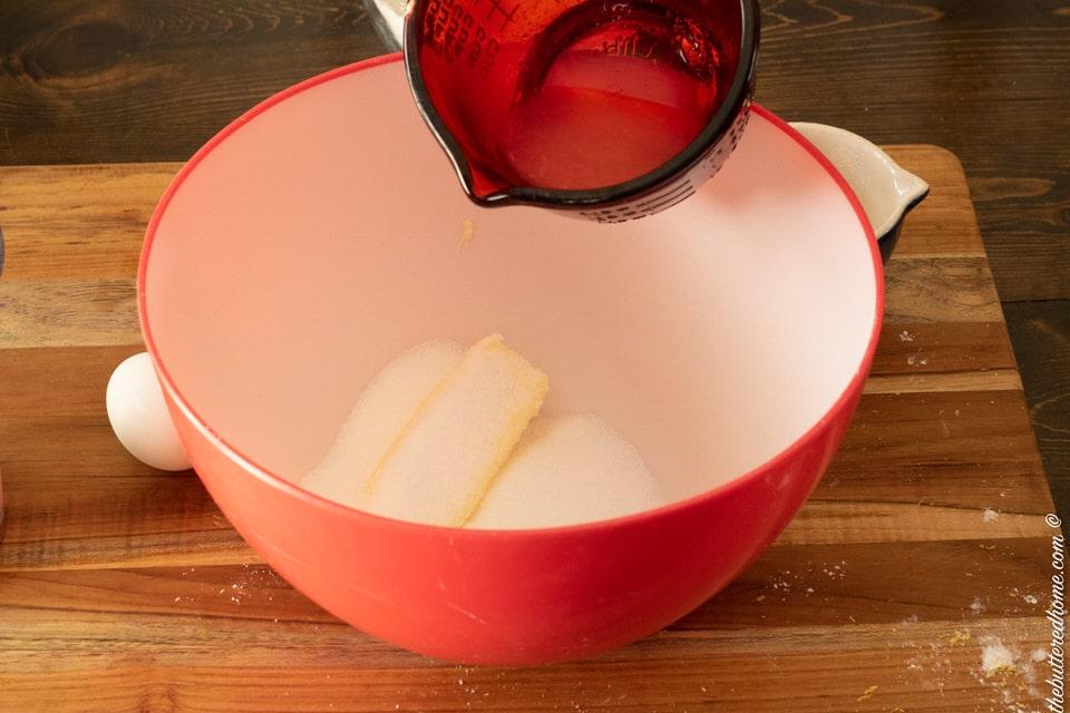 adding fresh squeezed lemon juice