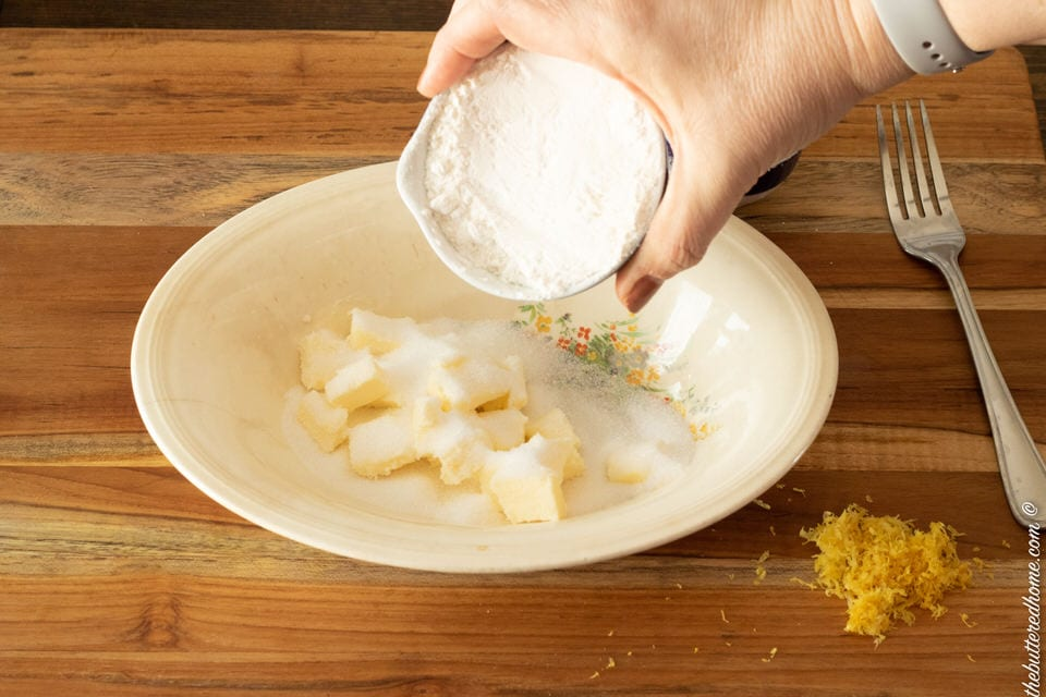 flour sugar and butter
