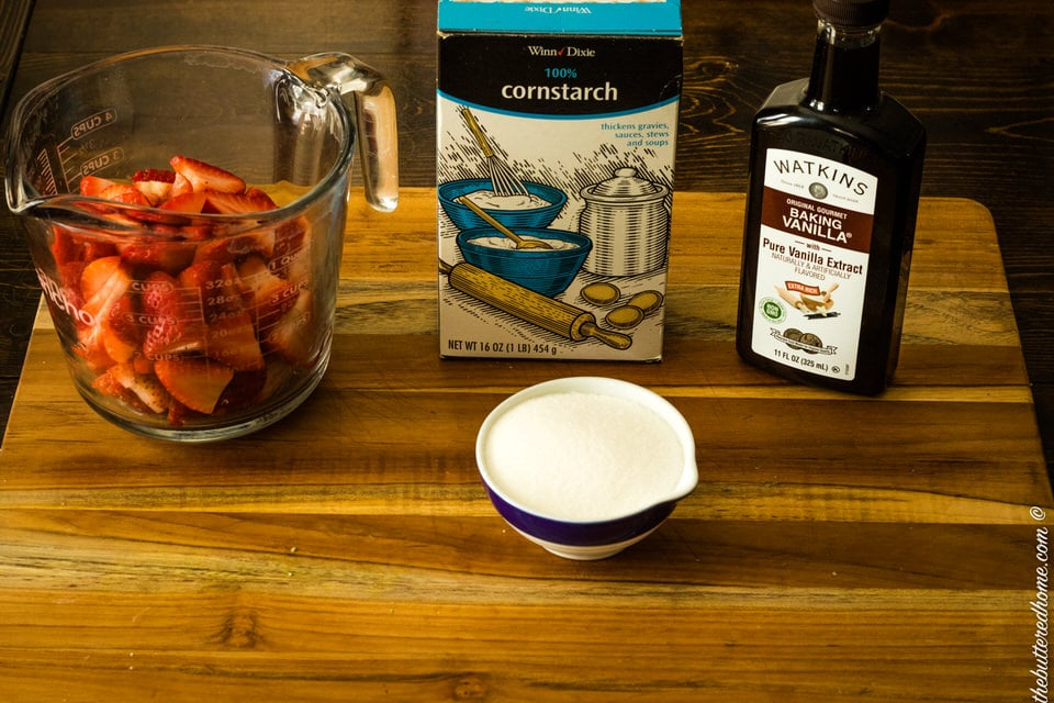 ingredients for strawberries for upside down cake