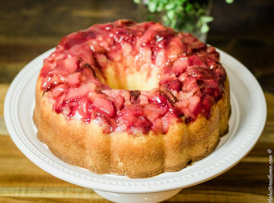 strawberry upside down cake full cake