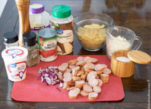 baked sausage pasta ingredients