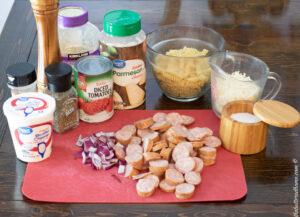baked sausage pasta ingredients
