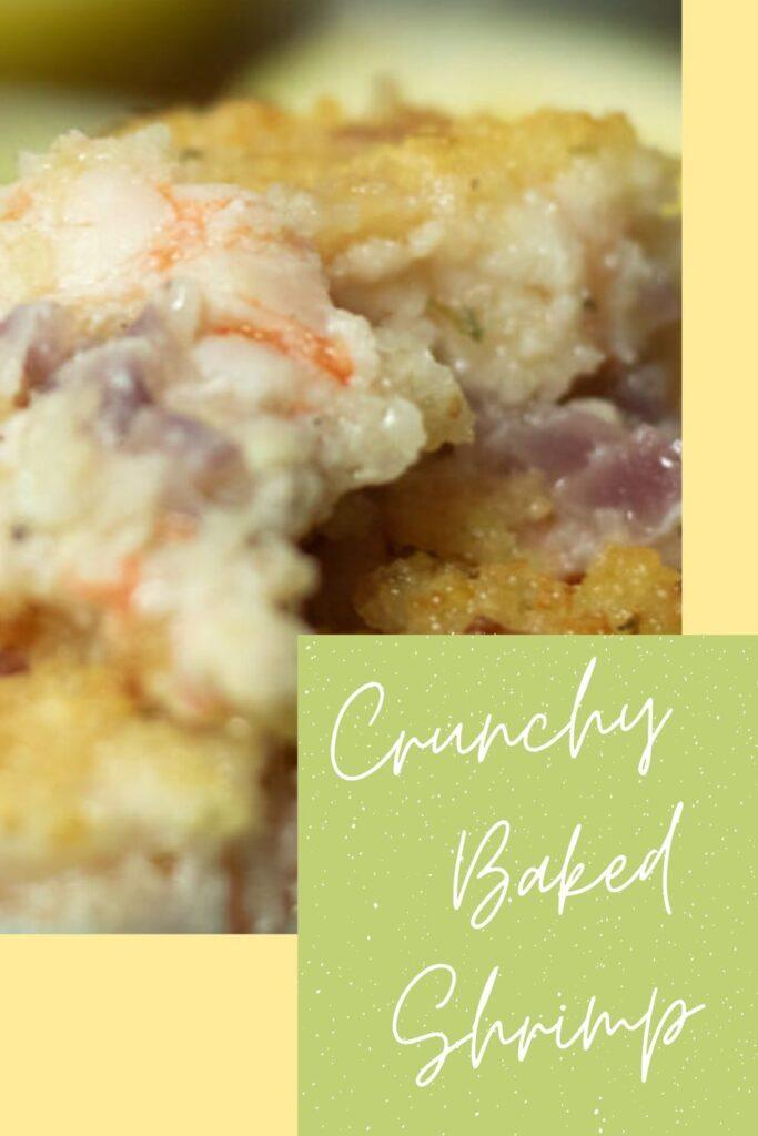 crunchy baked shrimp pin for pinterest