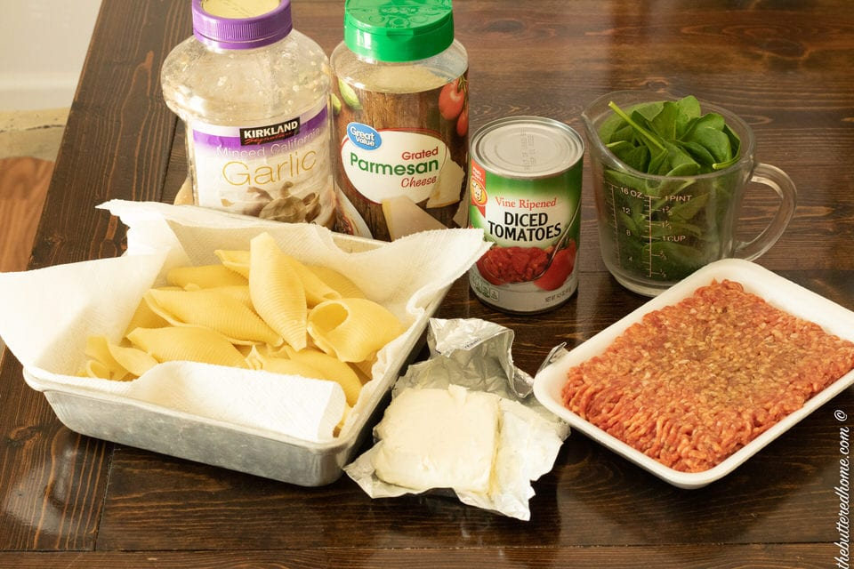 sausage and spinach stuffed shells ingredients