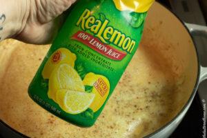 adding lemon juice for sauce