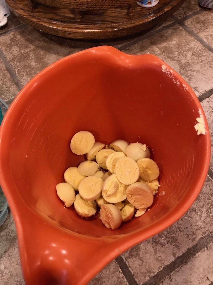 bowl full of the egg yolks