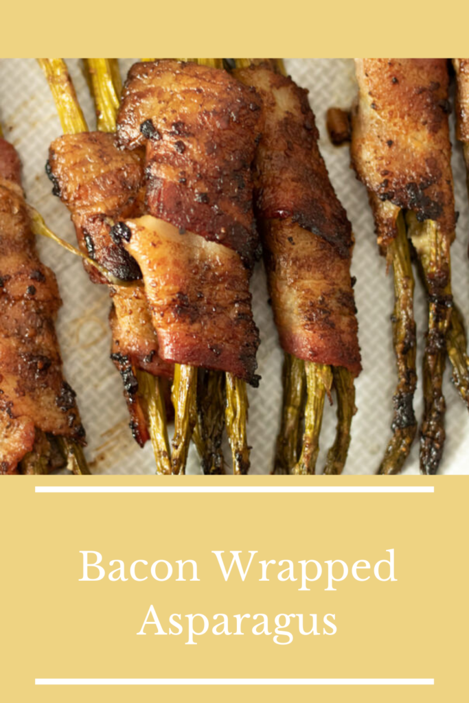 bacon wrapped asparagus pin for pinterest