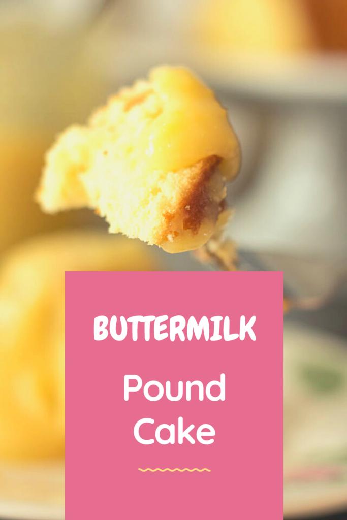 Buttermilk Pound Cake Pin for pinterest