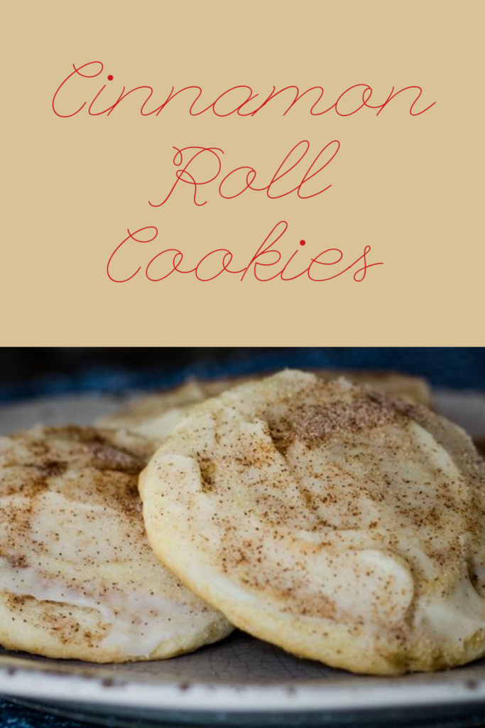cinnamon roll cookie pin for pinterest