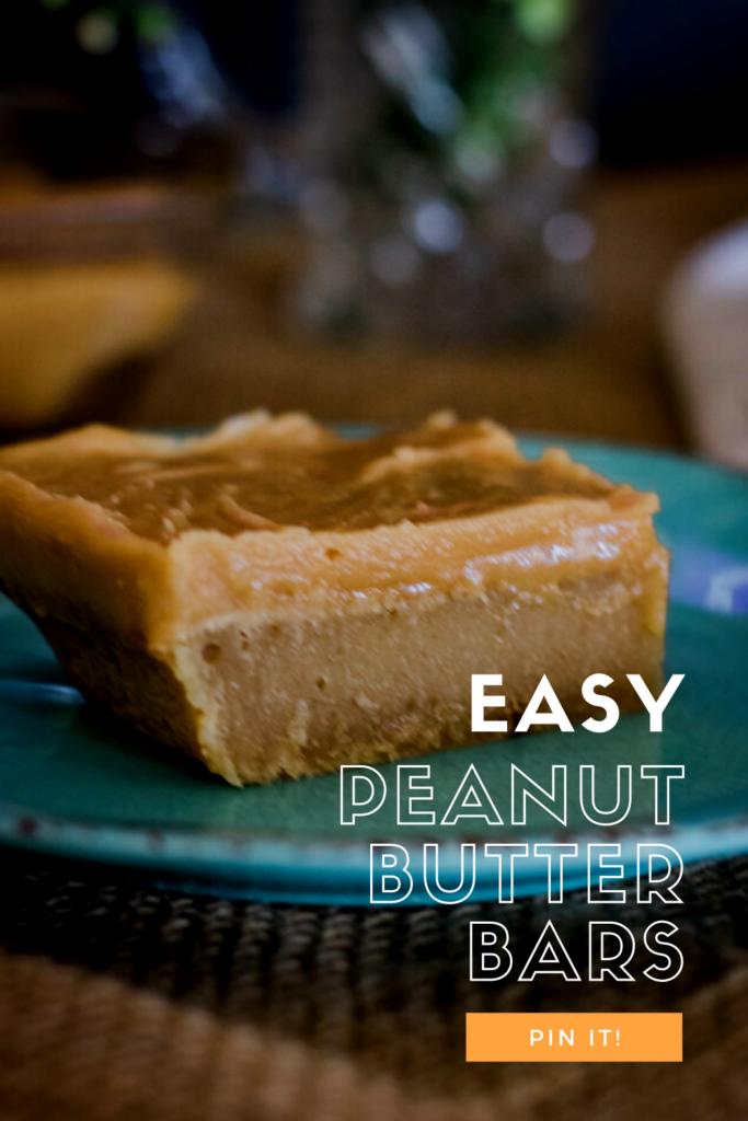 Peanut Butter Bar pin for pinterest