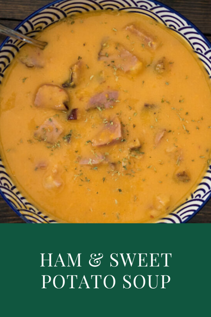 Ham and Sweet Potato soup pin