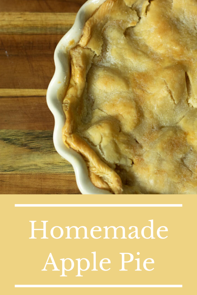 Homemade Apple Pie pin for pinterest