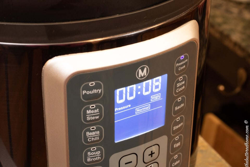 8 minute timer on electric pressure cooker
