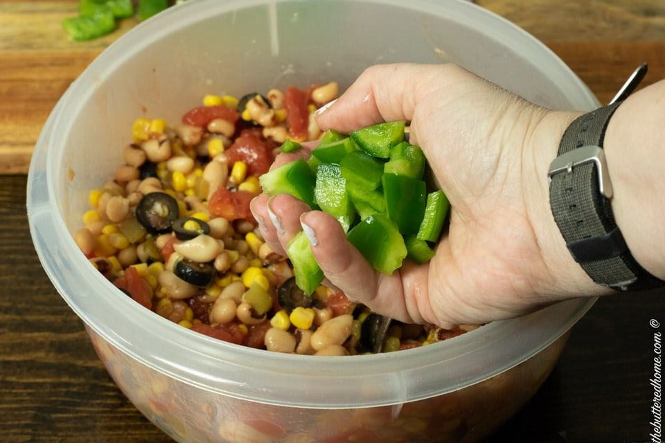 fresh chopped green bell pepper