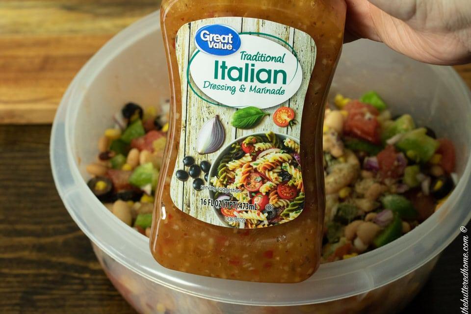 bottle of prepared Italian seasoning