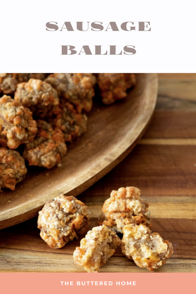 sausage balls pin for pinterest
