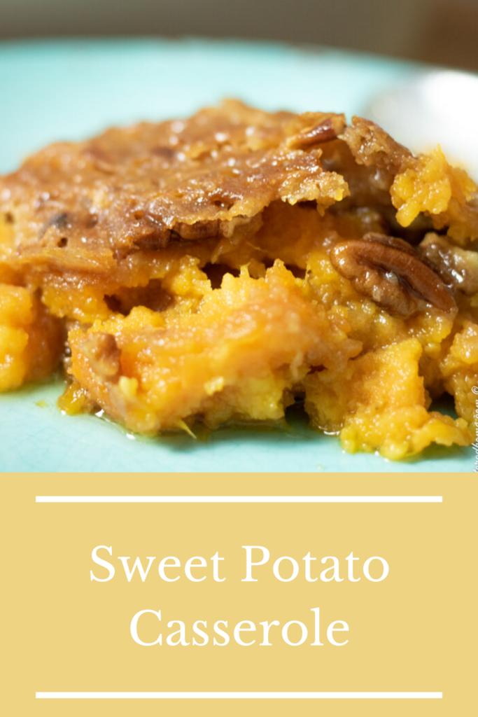 sweet potato casserole pin for pinterest