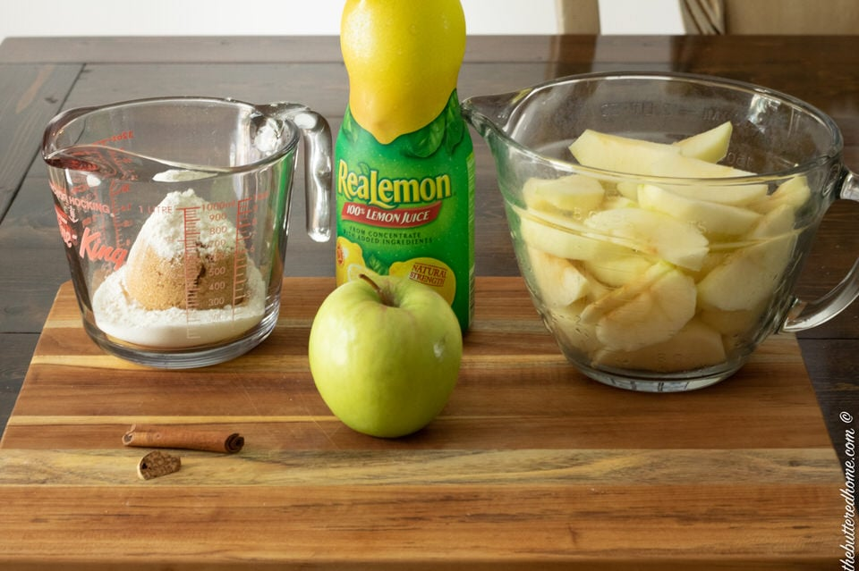 ingredients for homemade apple pie