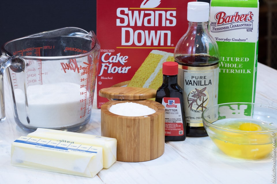 ingredients for buttermilk pound cake